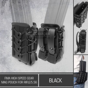 FMA High Speed Gear Mag Pouch For Rifle/5.56 Black