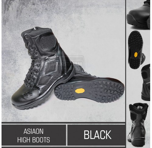 AsiaOn High Boots Black