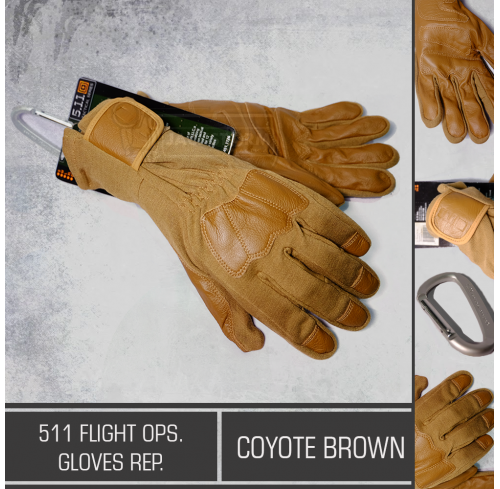 511 Flight Ops Glove Rep Coyote Brown
