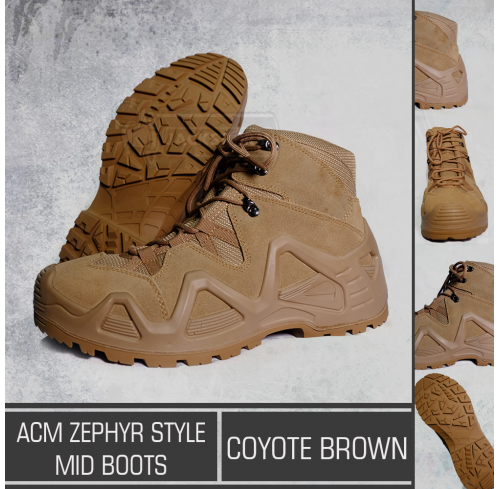 ACM Zephyr Style Mid Boots Coyote Brown