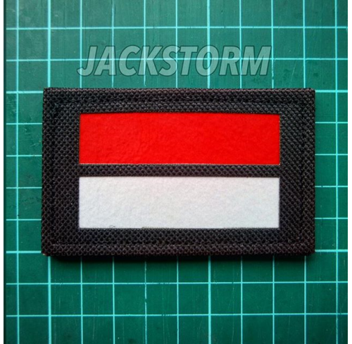 Cutting Patch Indonesia Flag (Black)