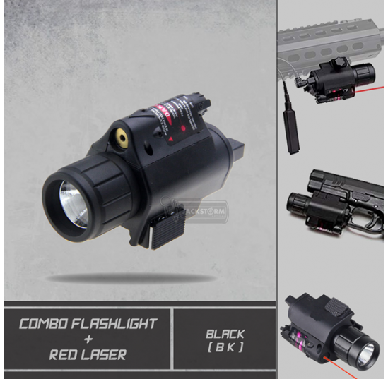 Combo Flashlight With Red Laser