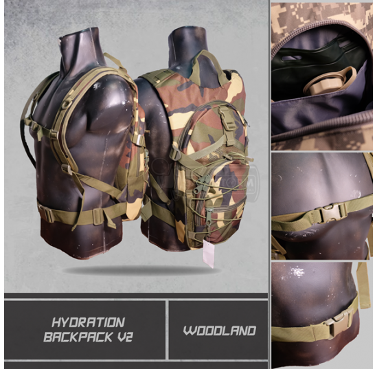 Hydration Backpack V2 Woodland