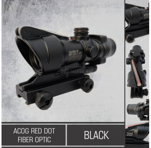 ACOG Red Dot Fiber Optic